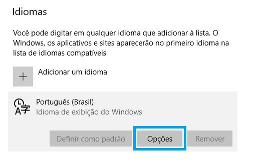 como configurar o teclado no windows 8