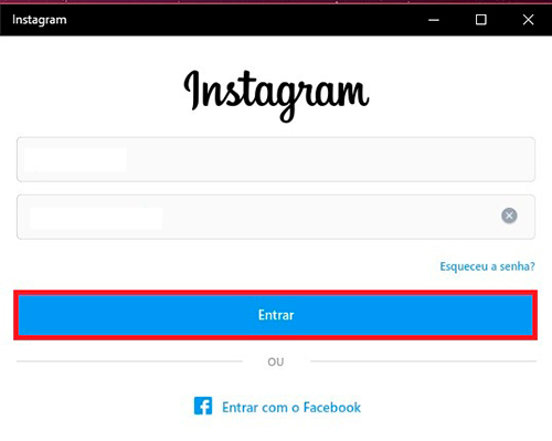 Direct do instagram no pc