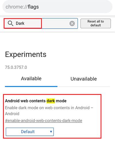 Google Chrome: como ativar o modo escuro no app para Android