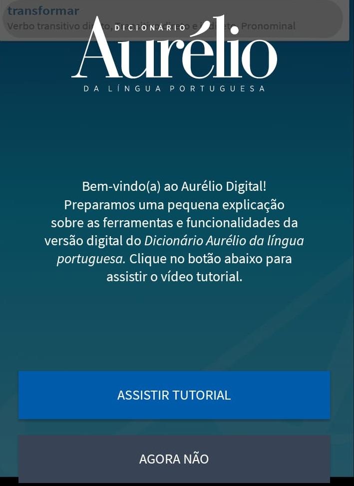 AURELIO BAIXAR DICIONARIO PARA ANDROID