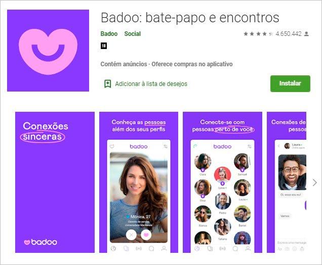 5. O aplicativo Badoo é um dos mais populares