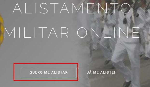 como funciona o alistamento militar online