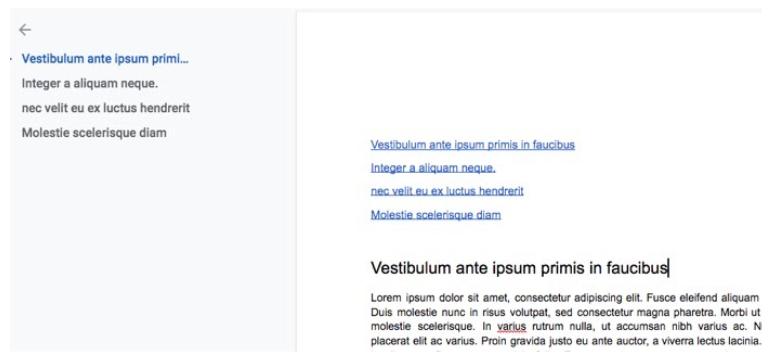Google Docs: como criar um índice com hiperlink