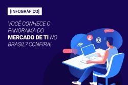[Infográfico] Você conhece o panorama do mercado de TI no Brasil? Confira!